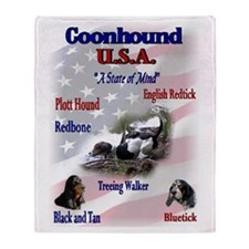Coonhound USA Throw Blanket