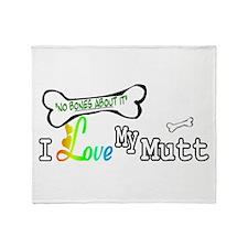 I Love My Mutt Throw Blanket