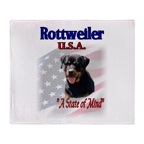 Rottweiler USA Throw Blanket