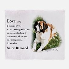 Saint Bernard Gifts Throw Blanket