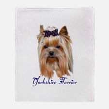 Yorkshire Terrier Gifts Throw Blanket