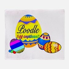 Poodle Easter Throw Blanket
