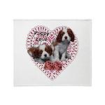 Cavalier Puppy Love Throw Blanket