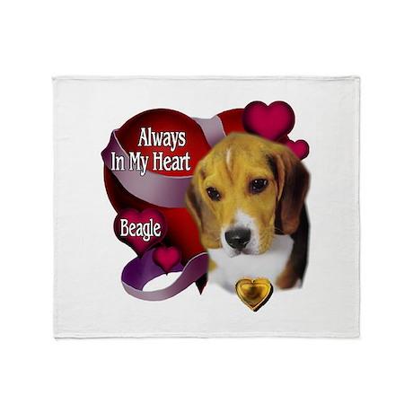 Beagle_Always In My Heart Throw Blanket