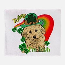 St. Patty Labradoodle Throw Blanket