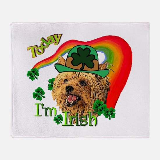 St. Patty Yorkie Throw Blanket
