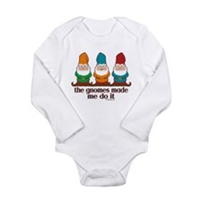The Gnomes Made Me Do It Long Sleeve Infant Bodysu