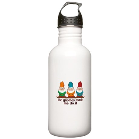 The Gnomes Made Me Do It Stainless Water Bottle 1.