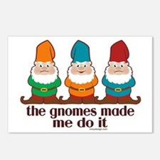 The Gnomes Made Me Do It Postcards (Package of 8)