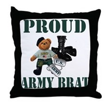 Army Brat (Boy) Throw Pillow