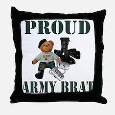 Army Brat (Boy) Throw Pillow