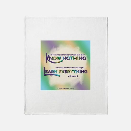 ACIM-Know Nothing Throw Blanket