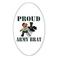 Army Brat (Boy) Oval Bumper Stickers