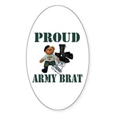 Army Brat (Boy) Oval Decal