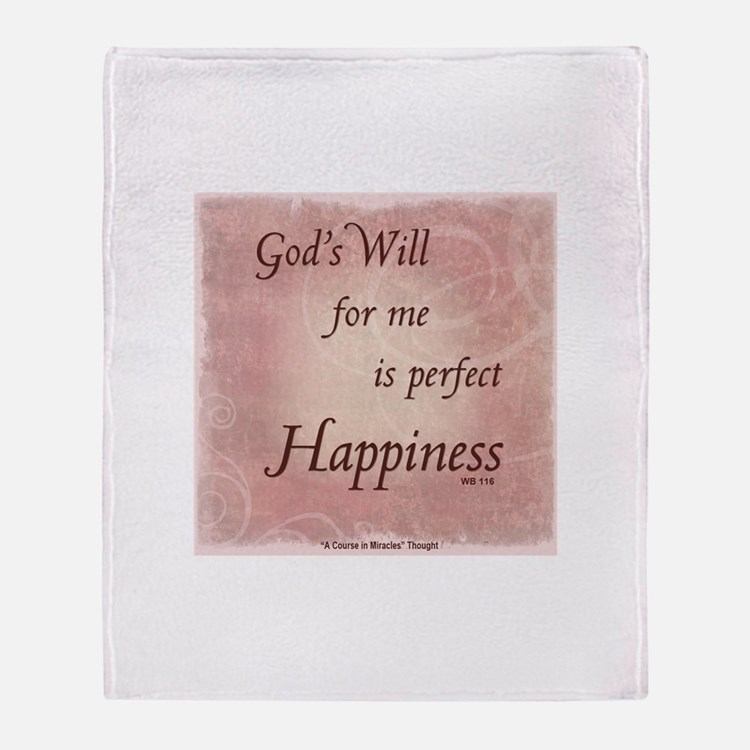 ACIM-God's Will for Me Throw Blanket