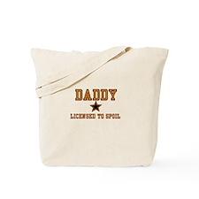 Daddy - Orange - Licensed to Tote Bag