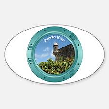 Puerto Rico Porthole Sticker (Oval)