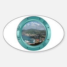 St Thomas Porthole Sticker (Oval)