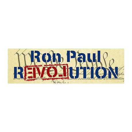 Ron Paul Revolution 21x7 Wall Peel