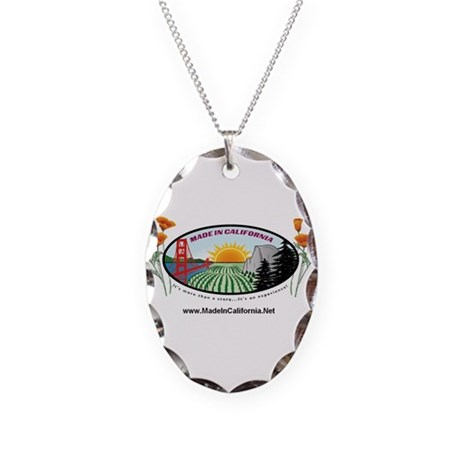 product name Necklace Oval Charm
