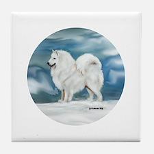 Samoyed Tile Coaster