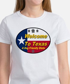 Welcome To Texas A Dog Friendly State Tee