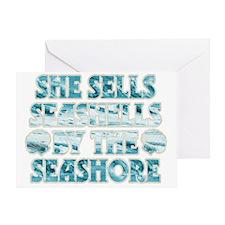 She Sells Seashells Greeting Card
