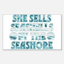 She Sells Seashells Sticker (Rectangle)
