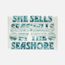 She Sells Seashells Rectangle Magnet