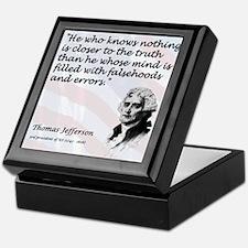 Jefferson on... Truth Keepsake Box