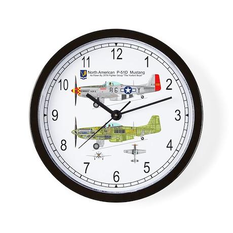 P-51 Mustang Cutaway Wall Clock