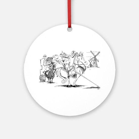 Don Quixote Ornament (Round)