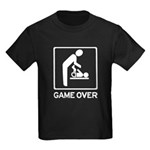 New Daddy Game Over Diaper duty Kids Dark T-Shirt