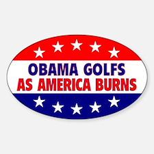 Obama Golfs Oval Decal