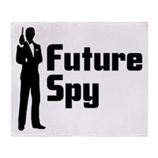 Future Spy Throw Blanket