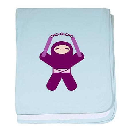 Nunchuck Ninja! baby blanket