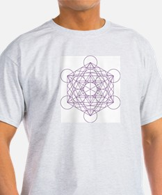 Ash Grey T-Shirt with Metatron's cube