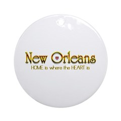 My heart is in New Orleans Ornament (Round)