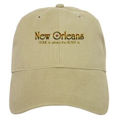 My heart is in New Orleans Baseball Cap