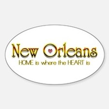 My heart is in New Orleans Oval Decal