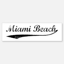 Vintage Miami Beach Bumper Bumper Bumper Sticker