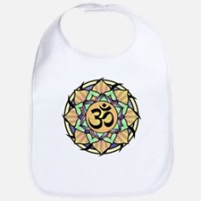 Rainbow Lotus Aum Bib