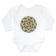 Rainbow Lotus Aum Long Sleeve Infant Bodysuit