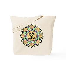 Rainbow Lotus Aum Tote Bag