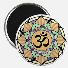 Rainbow Lotus Aum Magnet