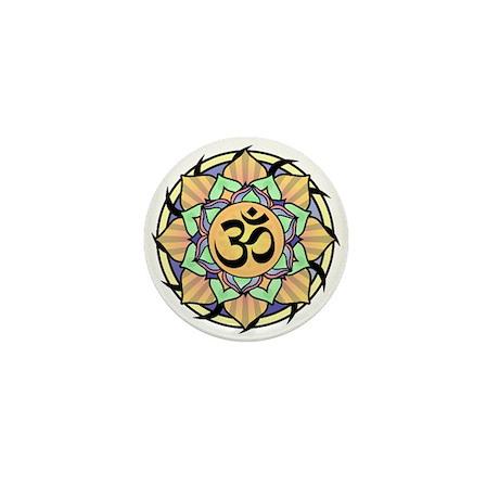 Rainbow Lotus Aum Mini Button (100 pack)