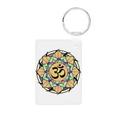 Rainbow Lotus Aum Keychains