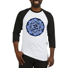 Aum Lotus Mandala (Blue) Baseball Jersey