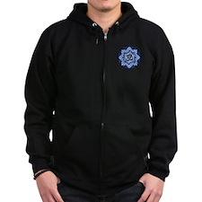 Aum Lotus Mandala (Blue) Zip Hoodie