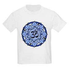 Aum Lotus Mandala (Blue) T-Shirt